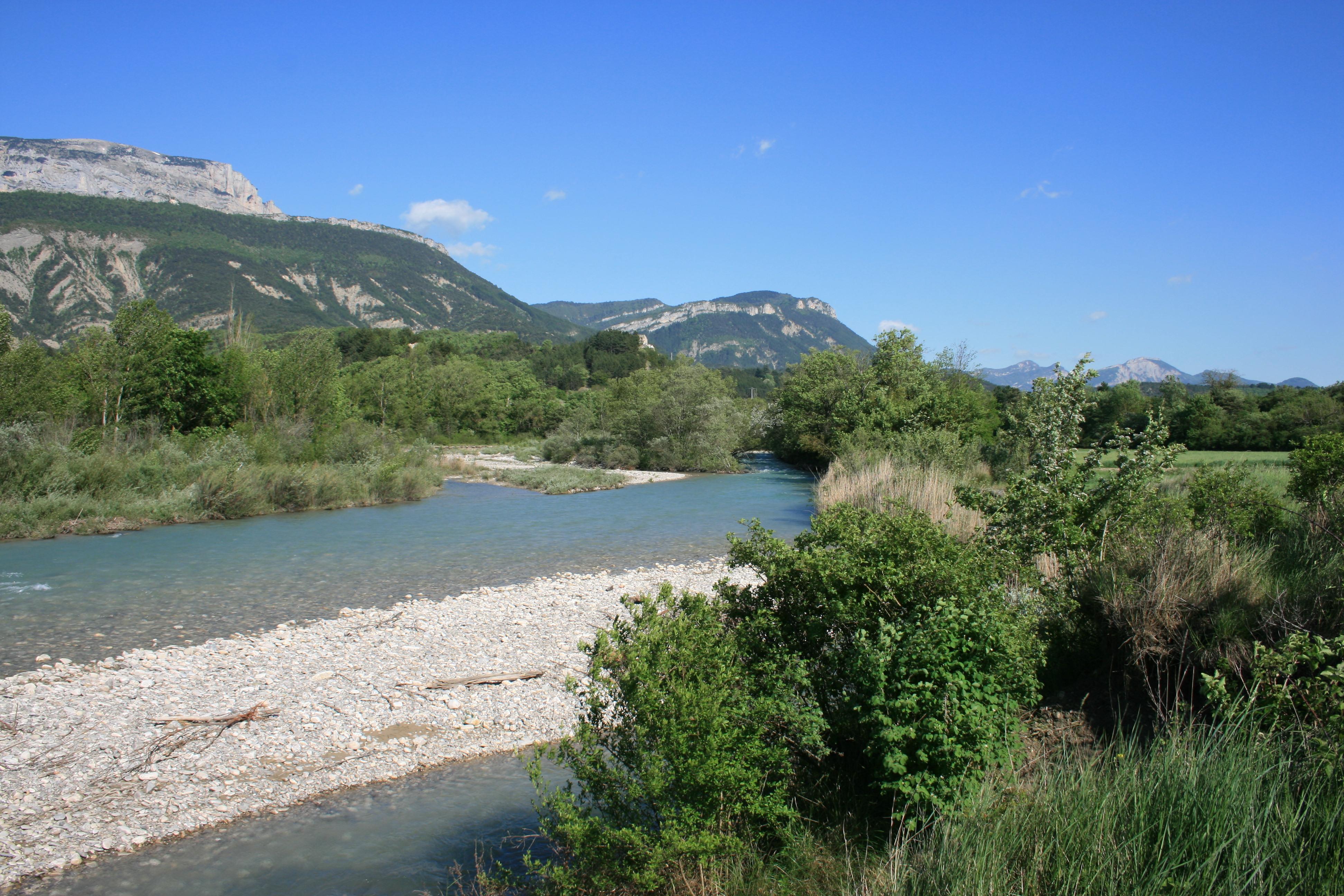 Rivière Drôme, route d'ausson, direction DIE